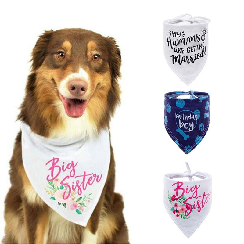 Birthday/Celebration/Marriage Bandana Neckerchief For Dogs Pets Cats - Thorito's Closet