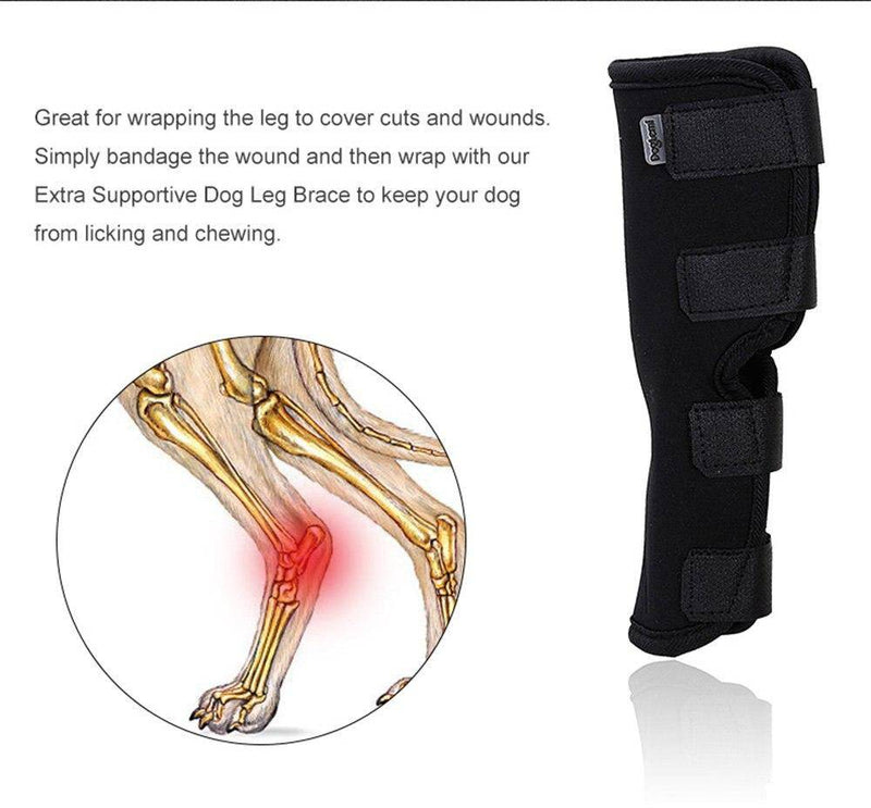 Dog Canine Rear Leg Knee Brace Hock Joint Wrap for Healing and Prevents Injuries and Sprains Helps with Loss of Stability (S-XL) - Thorito's Closet