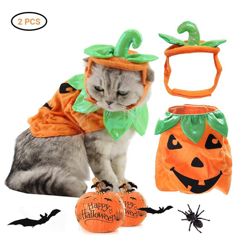 Halloween Pumpkin Costume For Cats Dogs Pets - Thorito's Closet