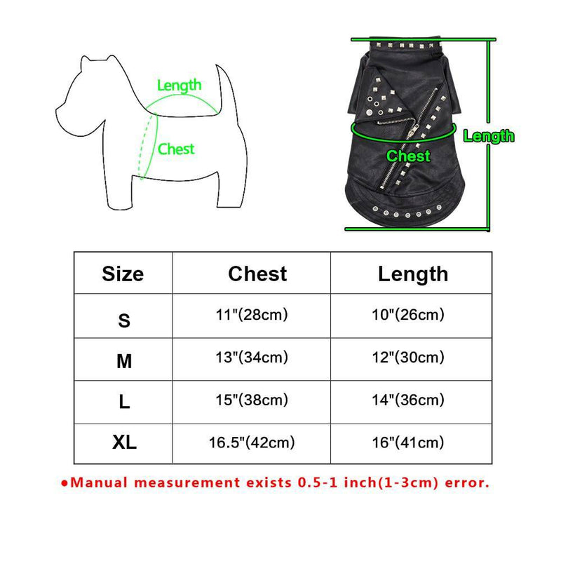Leather Jacket Costume for Cats Pets Dogs (S-XL) - Thorito's Closet