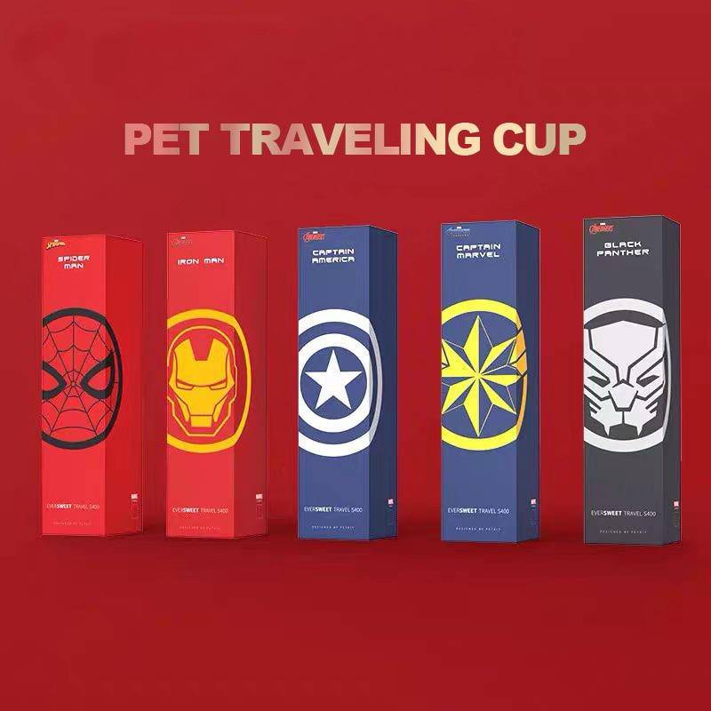 Marvel Avenger Superhero Themed Portable Travel Water Bowl For Pets Cats Dogs (300ML) - Thorito's Closet