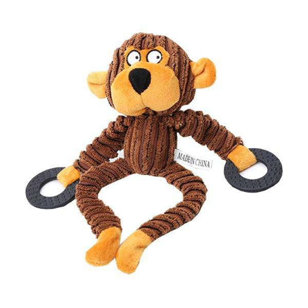 Plush Chew Toys With Squeaker Sheep Monkey Bear - Thorito's Closet