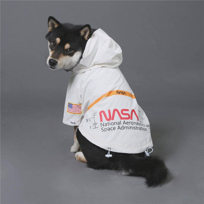 NASA and Dog Face Pupreme Designer Raincoat Outdoor Waterproof Reflective Hoodie Jackets Collection for Large Dogs Pets (S-5XL) - Thorito's Closet