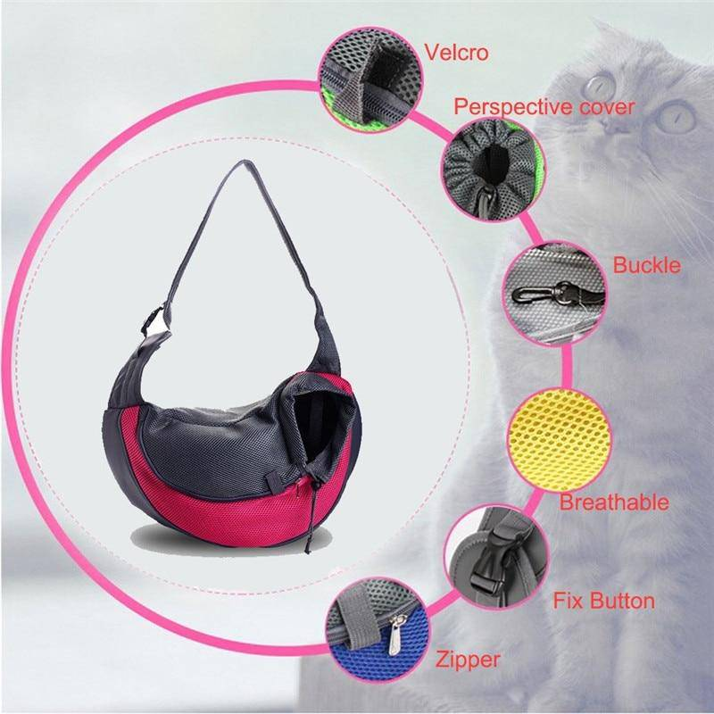 Pet Carrier Sling Backpack Travel Tote Folding Single Shoulder Bag - Thorito's Closet
