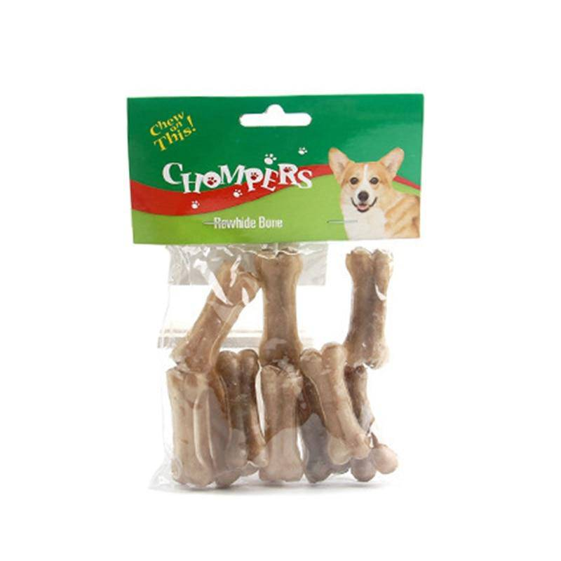 Leather Cowhide Bone Chew Toy For Molar Teeth Cleaning For Puppy/Dogs - Thorito's Closet