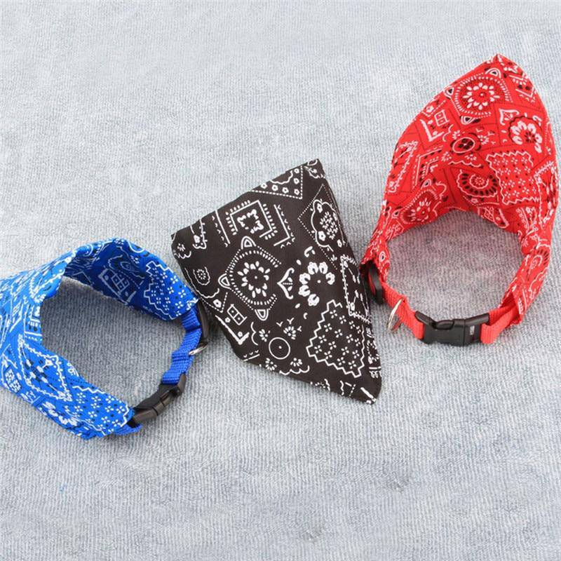 S/M/L Adjustable Neck Scarf Bandana Collar Neckerchief For Dogs Cats Pets - Thorito's Closet