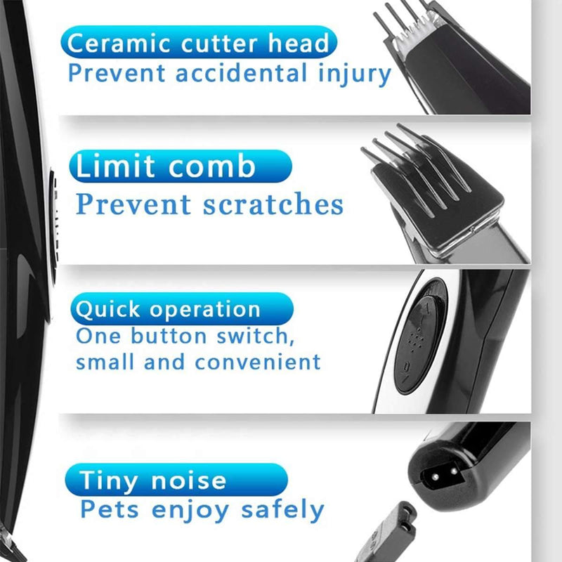 USB Rechargeable Pet Hair Grooming Tool Mini Electrical Hair Clipper Trimming Machine With Built-In Battery - Thorito's Closet