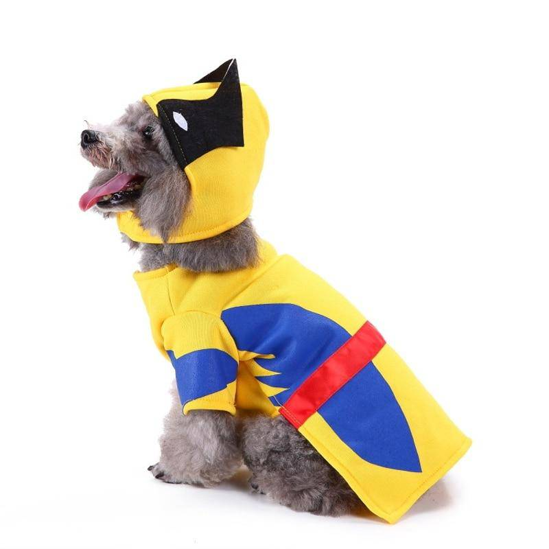 Wolverine Superhero Halloween Costume For Dogs Cats Pets (S-XL) - Thorito's Closet