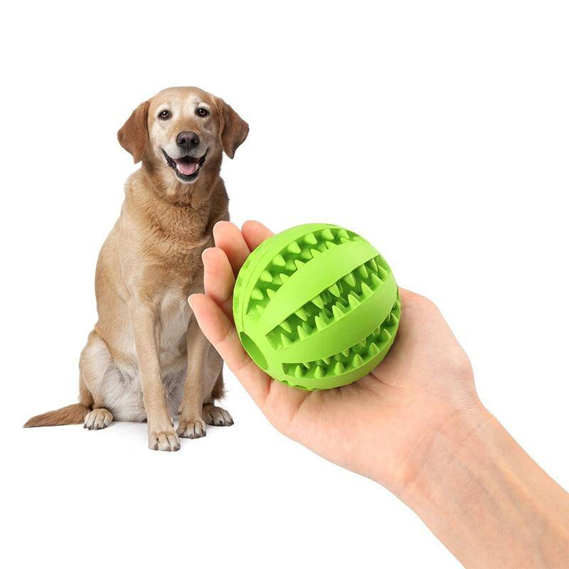 "Rubber ""Leaking"" Ball Toy Interactive Treat/Tooth Cleaning for Pets Cats Dogs - Thorito's Closet"