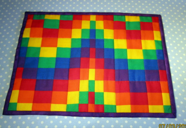 How to make a Bargello placemat using a striped fabric