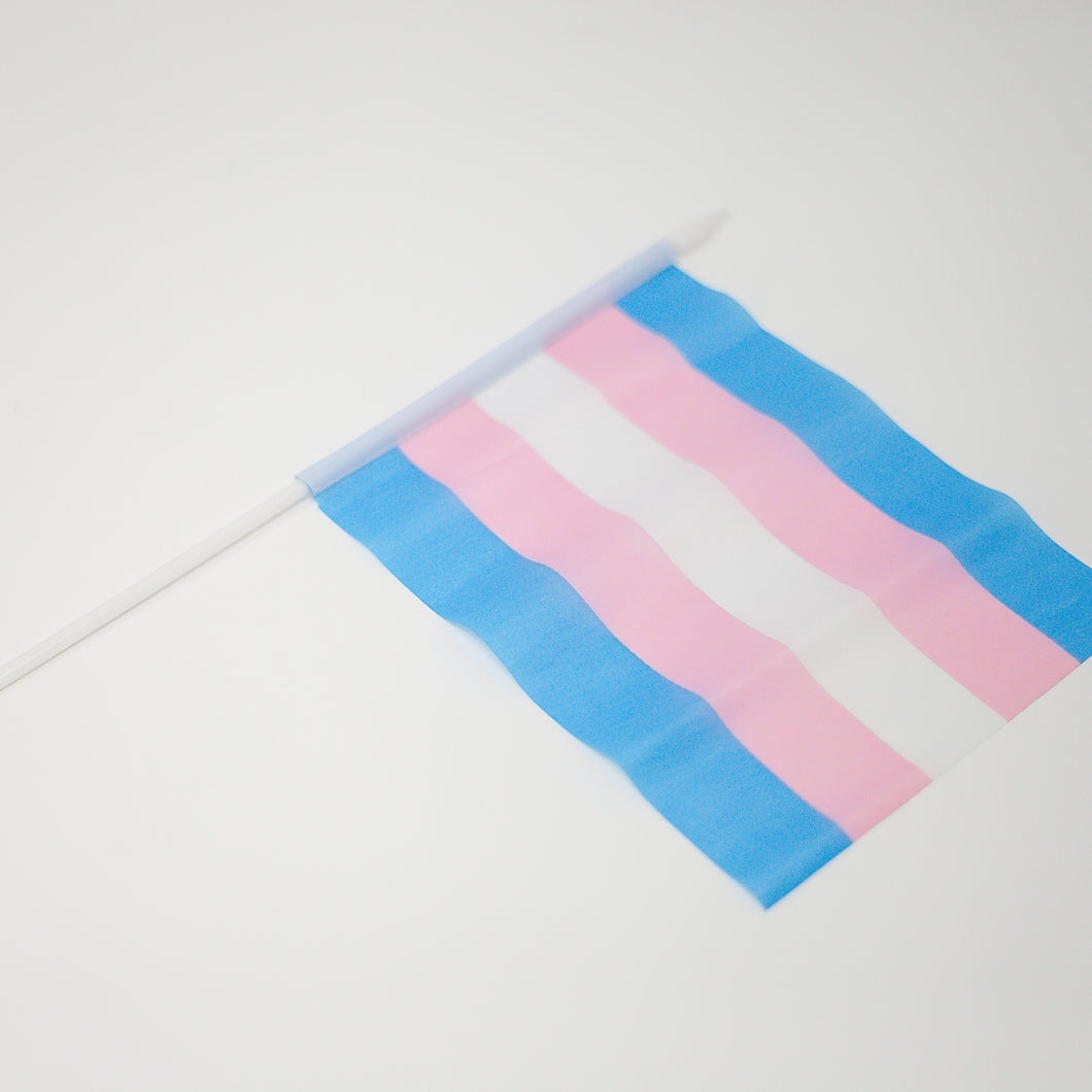 Mini Trans Stick Flag