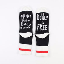 Load image into Gallery viewer, 1 pair Master has given Dobby a Socks summer Socks Hoags Object Black
