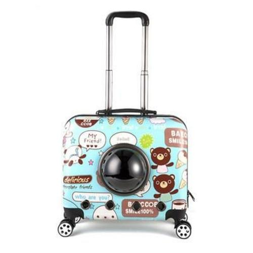 Pet Trolley Accessories Gold Bellerophon Blue printing