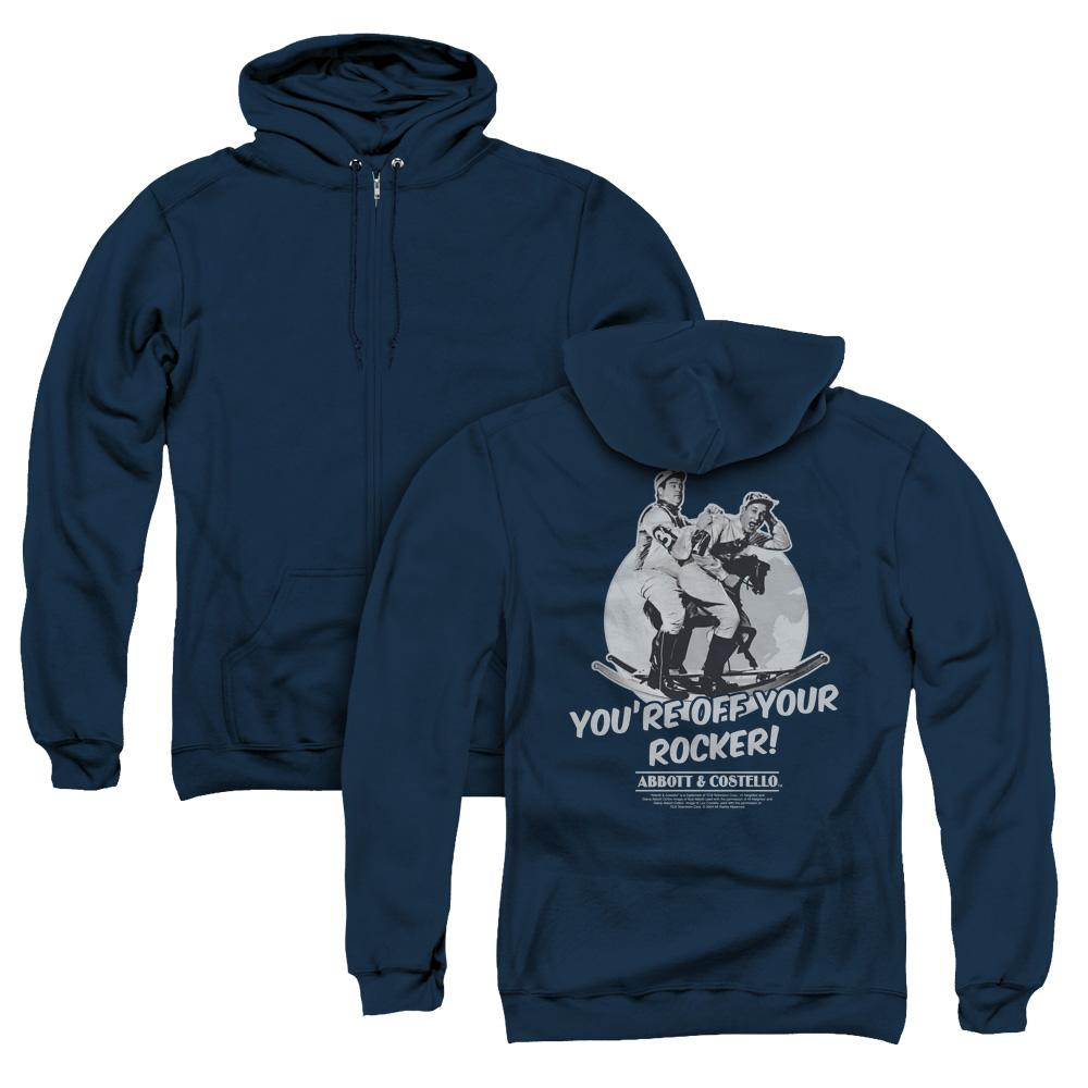 Abbott & Costello - Off Your Rocker (Back Print) Adult Zip Up Hoodie Adult Zip Up Hoodie ApparelPop!