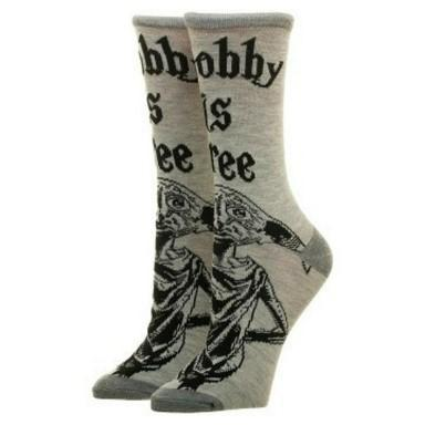 Harry Potter Dobby Is Free Crew Cut Socks Socks Tan Pontus