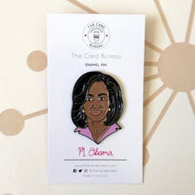 Load image into Gallery viewer, Michelle Obama Enamel Pin Gifts Fuchsia Uranus