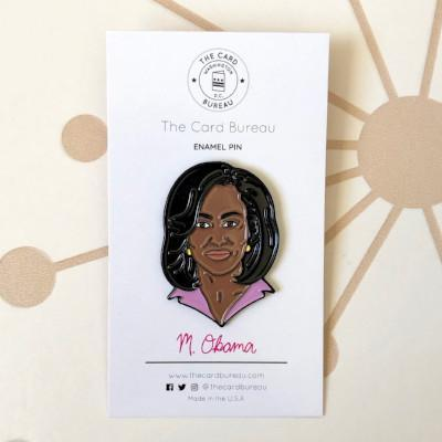 Michelle Obama Enamel Pin Gifts Fuchsia Uranus
