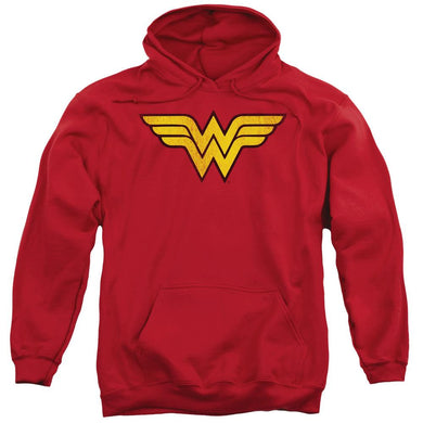 Wonder Woman Distressed Logo Adult Hoodie