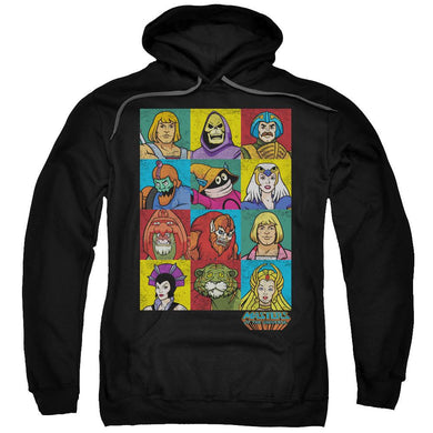 Masters Of The Universe - Character Heads Adult Pull Over Hoodie Adult Pull Over Hoodie ApparelPop!