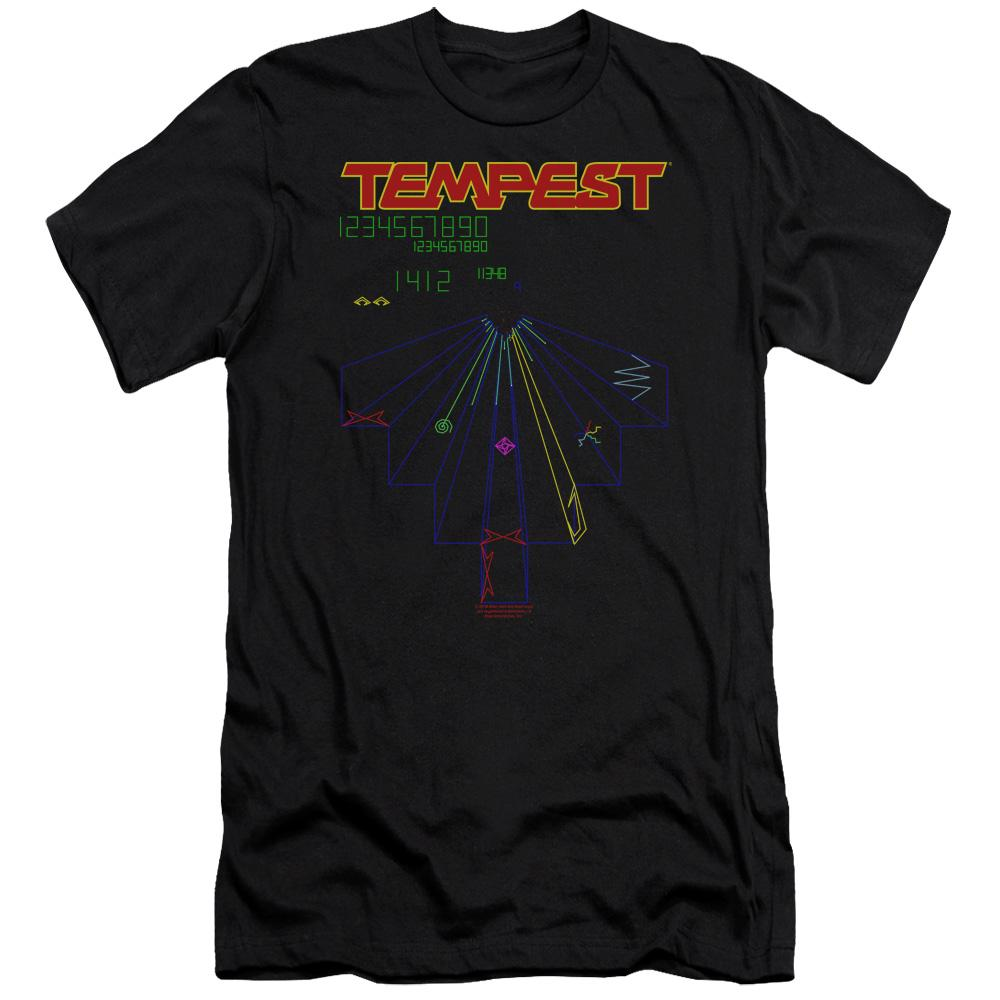 Atari - Tempest Screen Premium Canvas Adult Slim Fit 30/1 Premium Canvas Adult Slim Fit 30/1 ApparelPop!