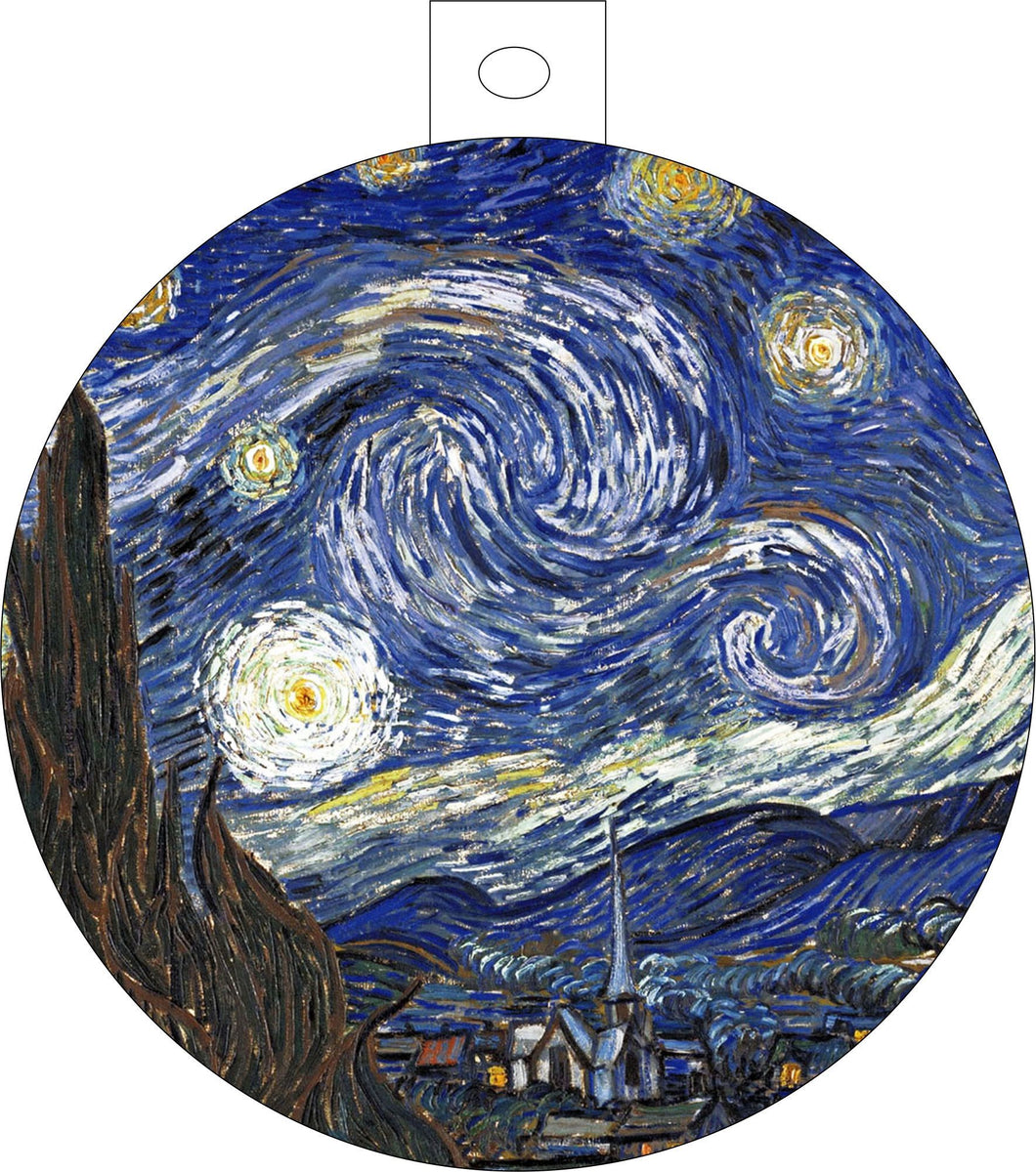 Christmas and holiday ornaments van gogh starry night Christmas Red Europa