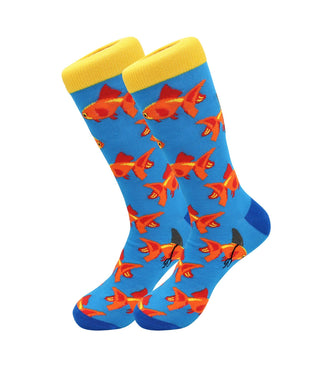 Cute Casual Designer Trendy Pets Socks - Gold Fish - for Men and Women Socks Fuchsia Thrace