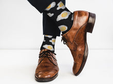 Load image into Gallery viewer, Cozy Designer Trending Food Socks - Eggs - for Men and Women Socks Fuchsia Thrace