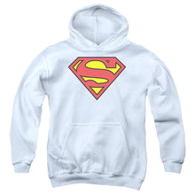 Load image into Gallery viewer, Superman - Classic Logo Youth Pull Over Hoodie