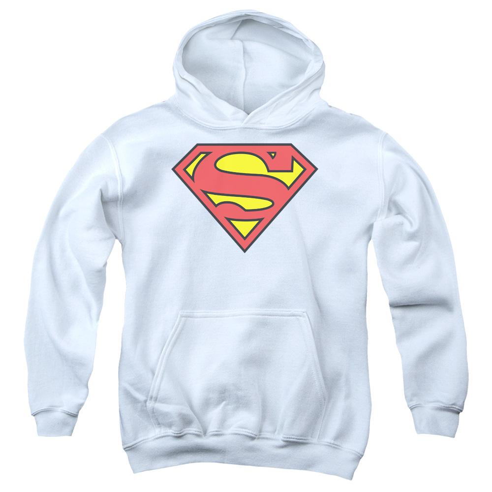 Superman - Classic Logo Youth Pull Over Hoodie