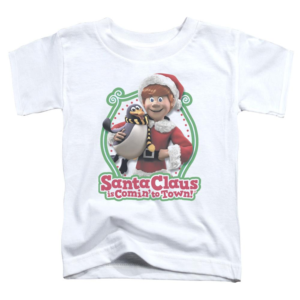 Santa Claus Is Comin To Town - Penguin Short Sleeve Toddler Tee Short Sleeve Toddler Tee ApparelPop!