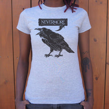 Load image into Gallery viewer, Nevermore Raven T-Shirt (Ladies) Ladies T-Shirt US Drop Ship