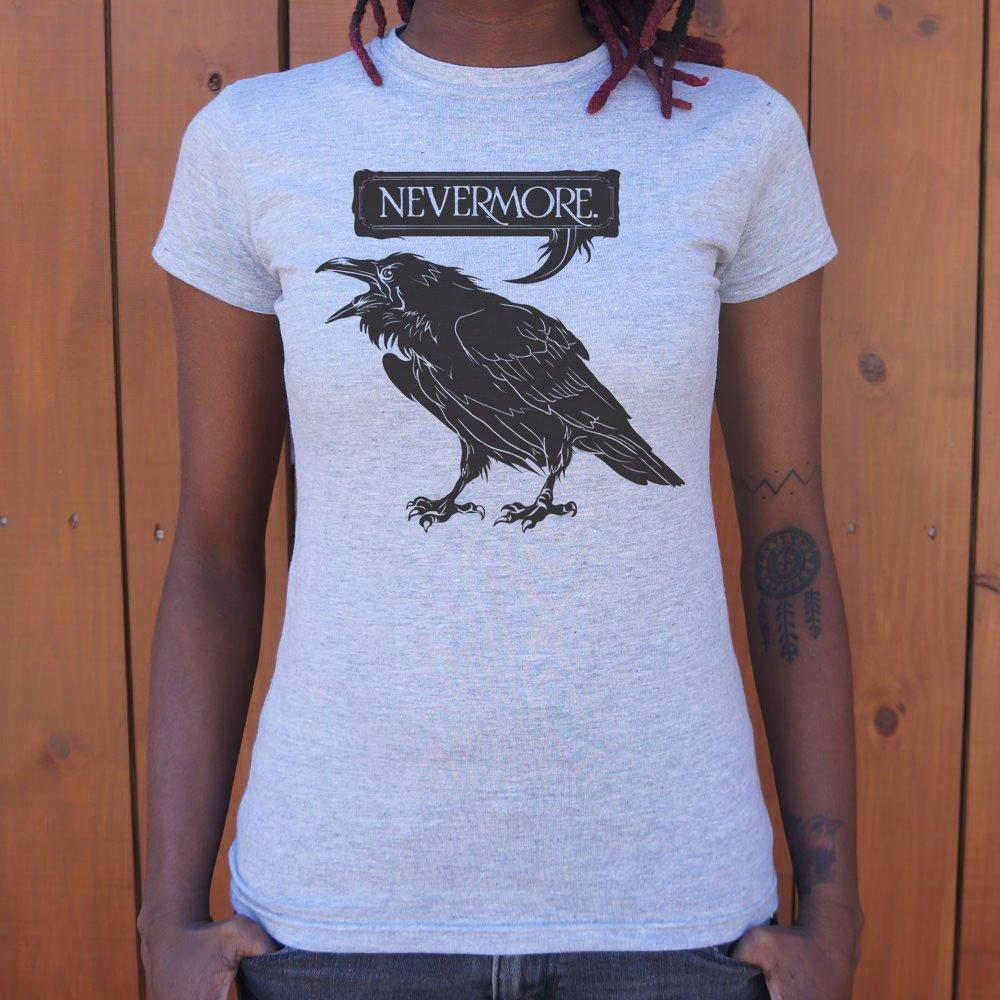 Nevermore Raven T-Shirt (Ladies) Ladies T-Shirt US Drop Ship