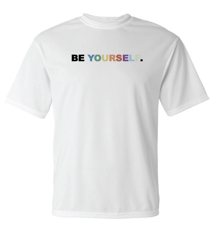 Be Yourself Dry Fit Tee (White)