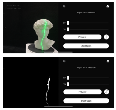 Reflection on 3D scan
