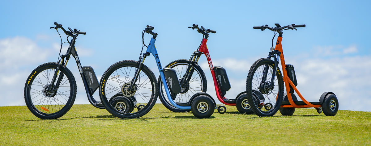 The range of DC Trikes