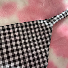 Load image into Gallery viewer, Black gingham headscarf