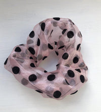 Load image into Gallery viewer, The sheer polka scrunchie