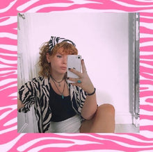 Load image into Gallery viewer, The 'Sophie' zebra headscarf