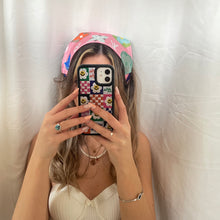Load image into Gallery viewer, LV SILK HEADSCARFS (pink and white)