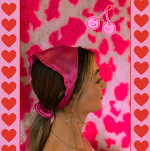Load image into Gallery viewer, The 'Katherine' pink satin headscarf