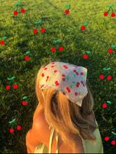Load image into Gallery viewer, #1 cherry cotton headscarf