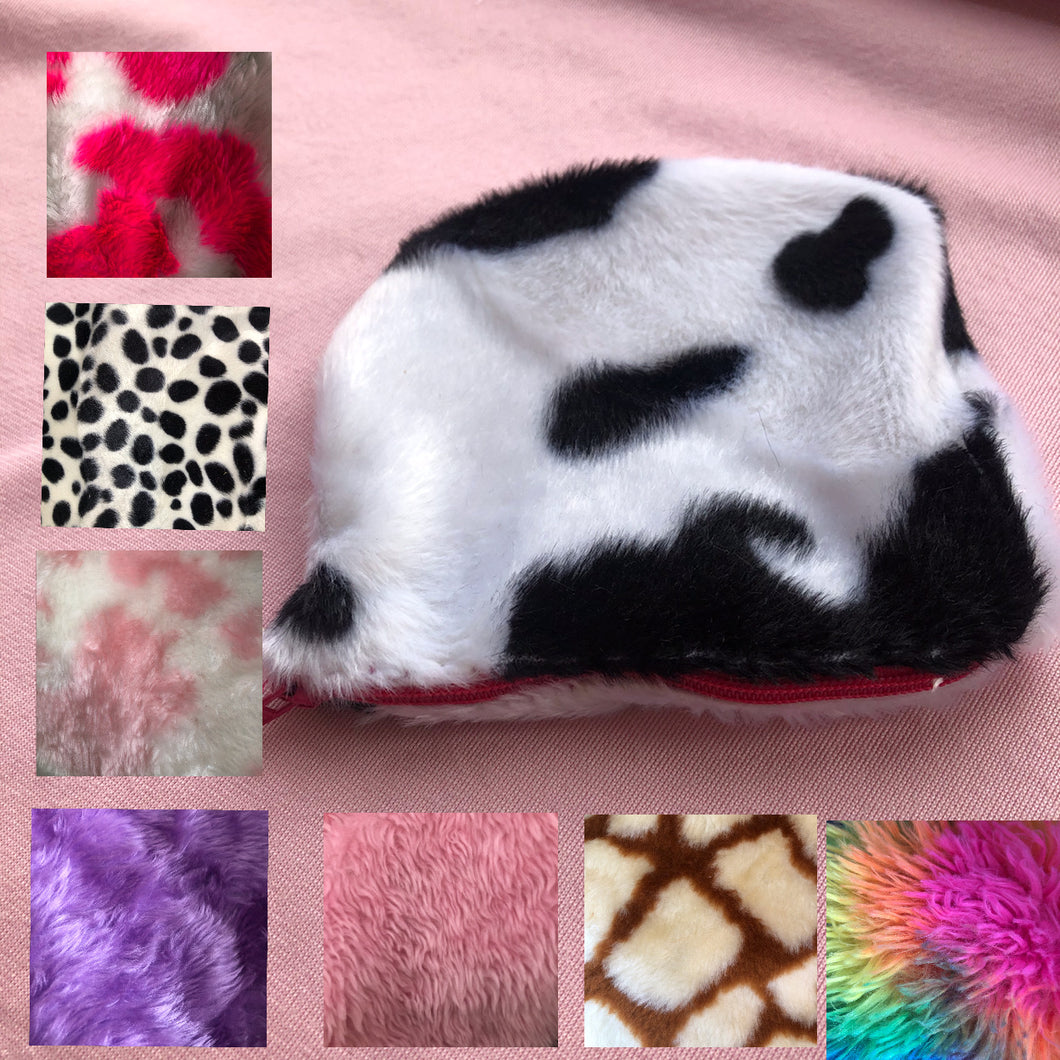 Coin zip purse fluffy