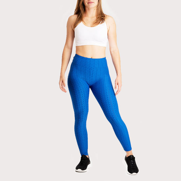 Legging Anti-Cellulite Push-Up Bleu Roi