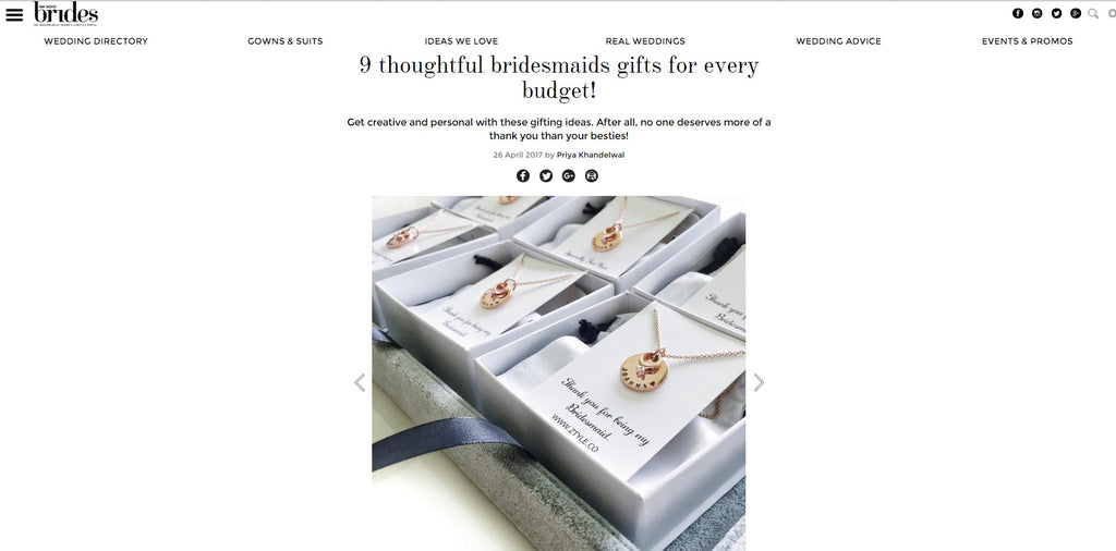 Singapore TOP Bridesmaids Gifts