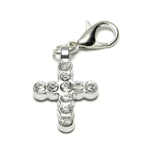 DC#11 Silver Crystal Cross
