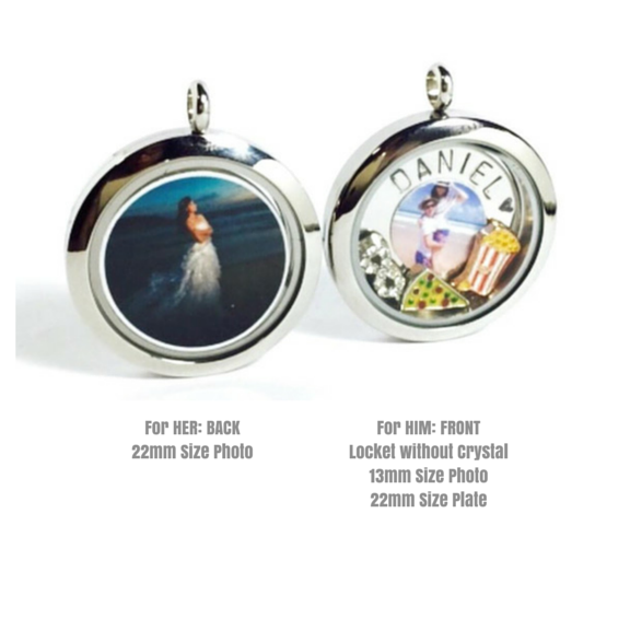 Couple Locket Keychain / Necklace Set
