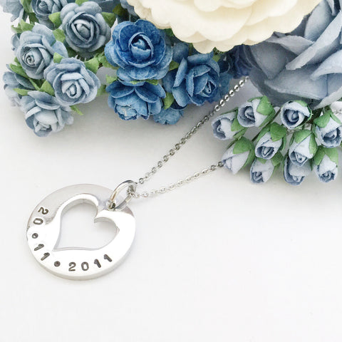 You'll be in my Heart (Heart Cut Out Necklace)