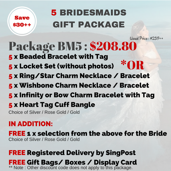 4 - 8 Bridesmaids Jewelry Package