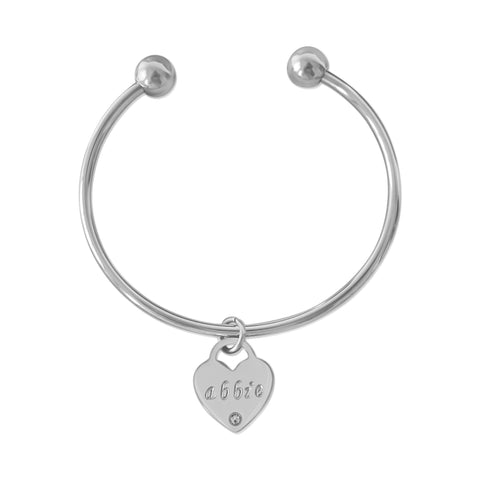 Classic Heart Pendant Bangle II