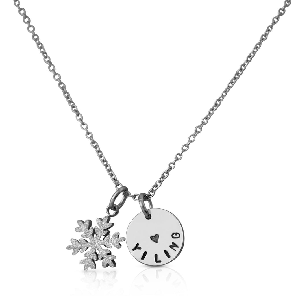 Stardust Snowflake Charm Necklace